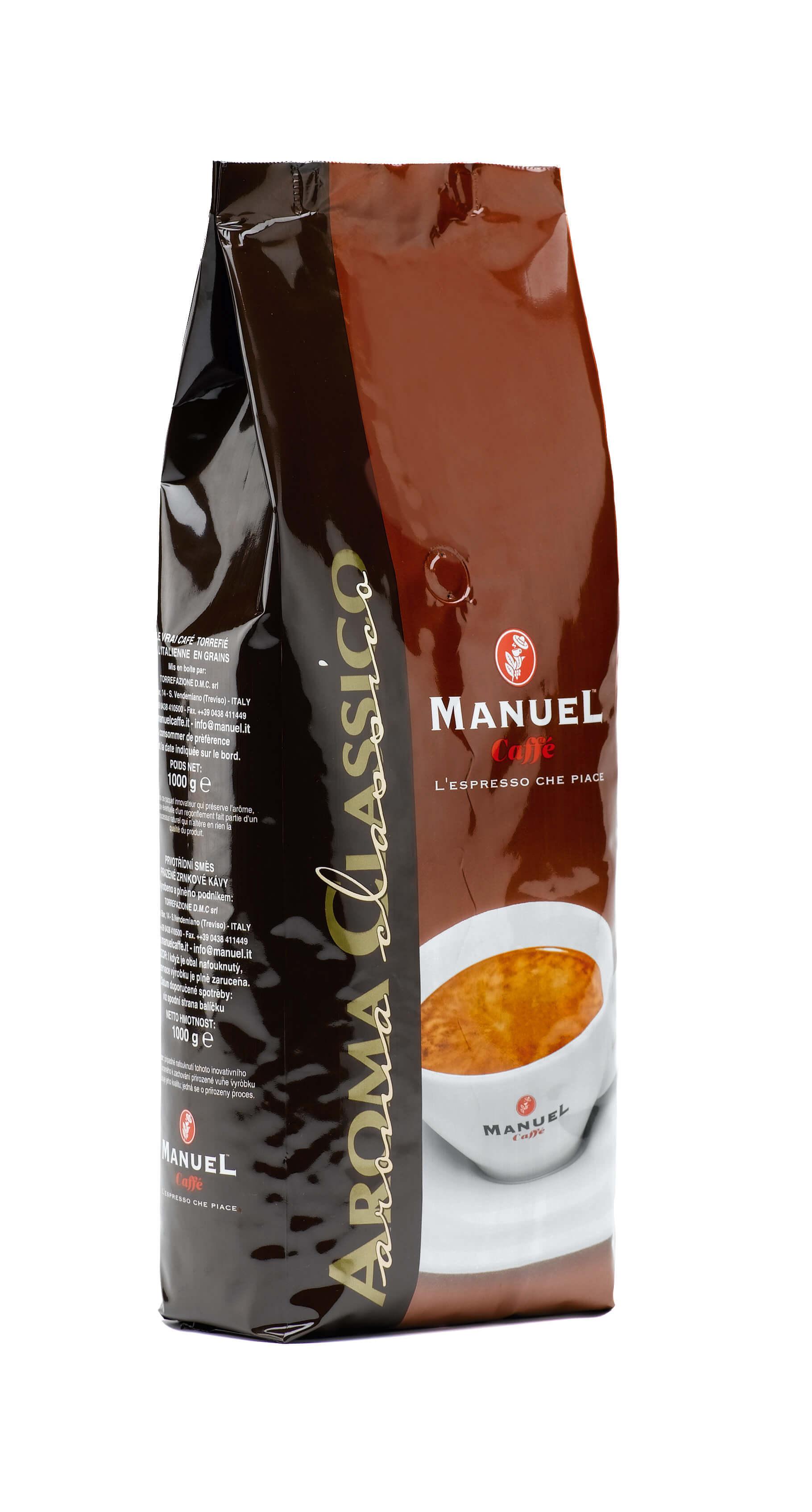 Manuel Caffe Classico 1kg in ganzer Kaffeebohne